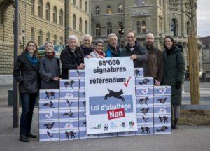 """Campaña """"No a la Ley de Matanza"""" """"Photo : Groupe Loup Suisse GLS"""""""